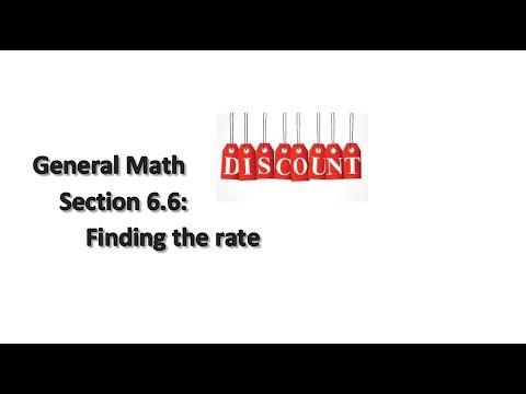 General Math Section 6.7: Discounts & Sales Tax (intro)