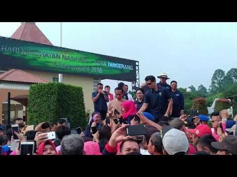 Senam Bersama di Tangerang, Jokowi Jadi Incaran Foto 'Emak-emak' Mp3