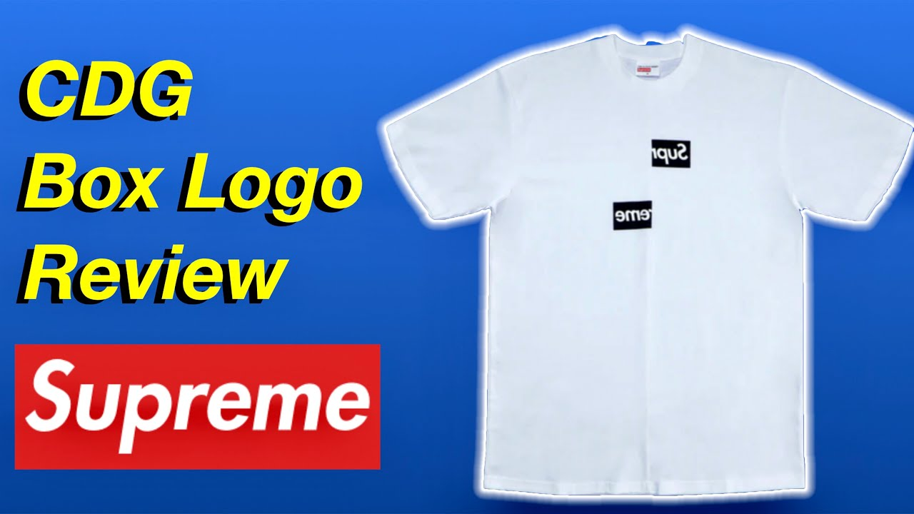 SUPREME COMME DES GARÇONS (CDG) SPLIT BOX LOGO REVIEW (HOW TO