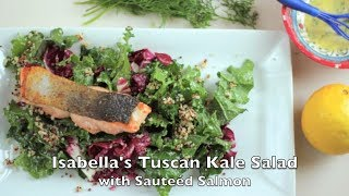 Isabellas - Tuscan Kale Salad with Salmon - City Cookin