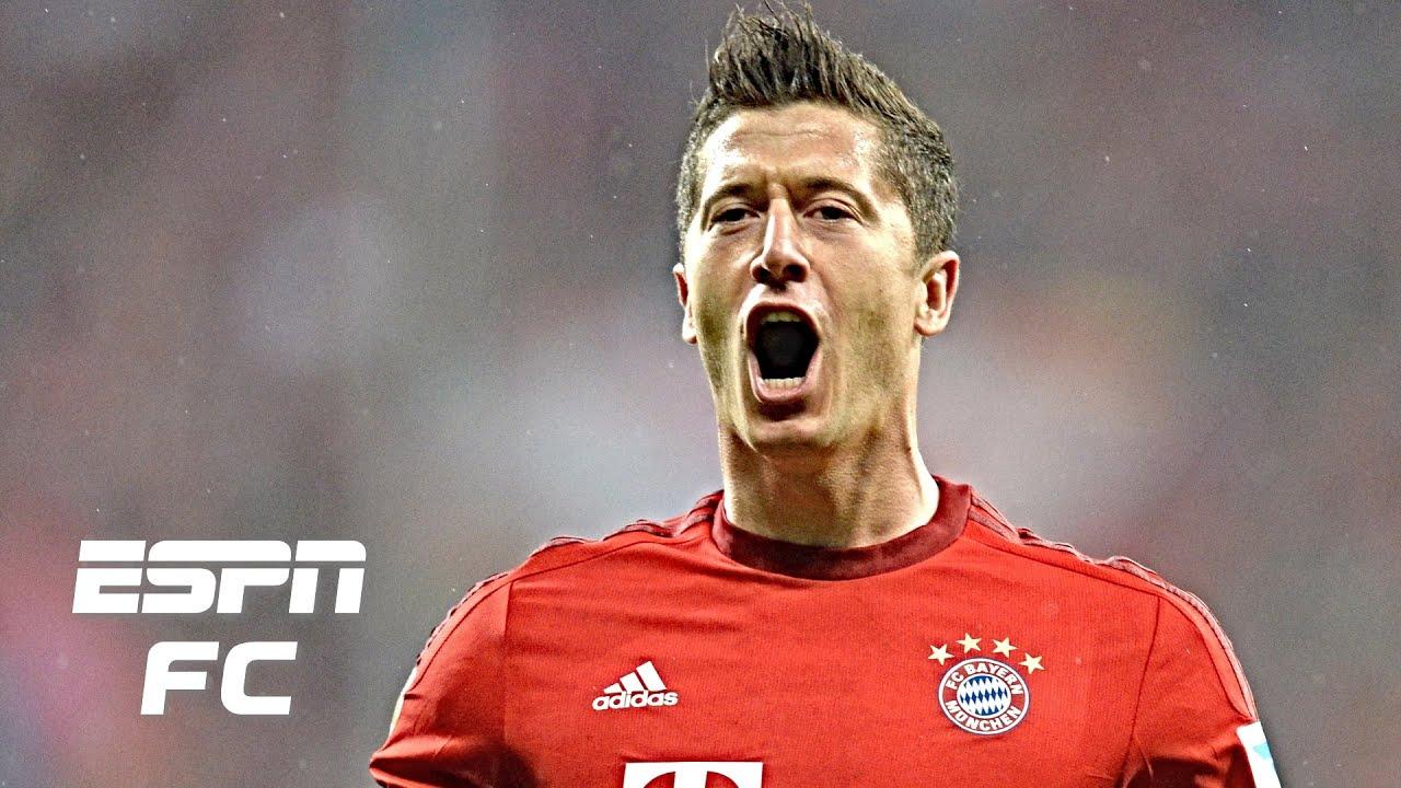Download Robert Lewandowski scores 5 GOALS IN 9 MINUTES for Bayern Munich vs. Wolfsburg (2015)   Bundesliga