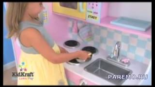 Детская Игрушечная Кухня ПАСТЕЛЬ (KidKraft)(Дети будут чувствовать себя как мама и папа, когда они будут весело готовить на