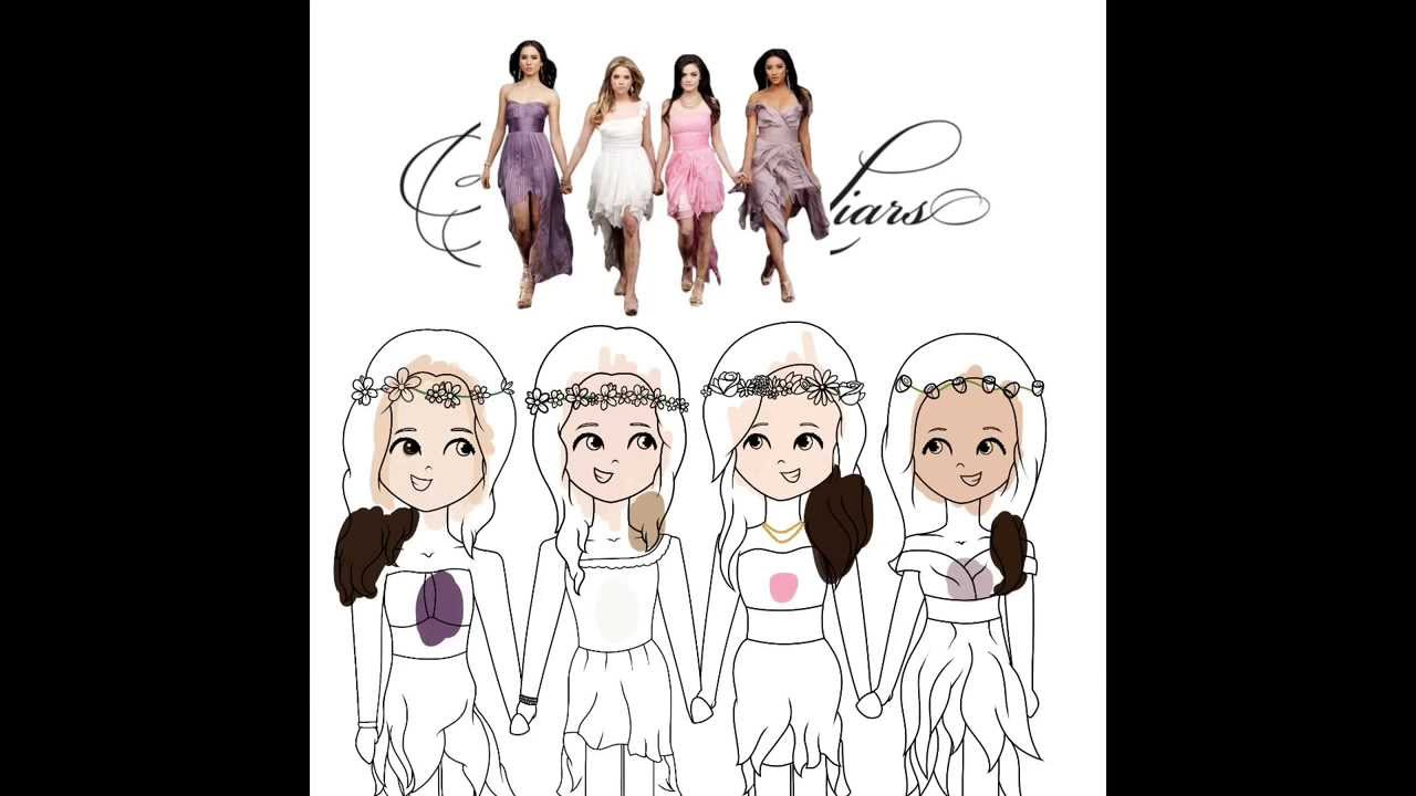 The coloring of my original pll drawing youtube for Pretty little liars coloring pages