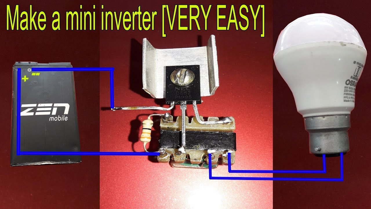 Make a mini inverter VERY EASY - YouTube