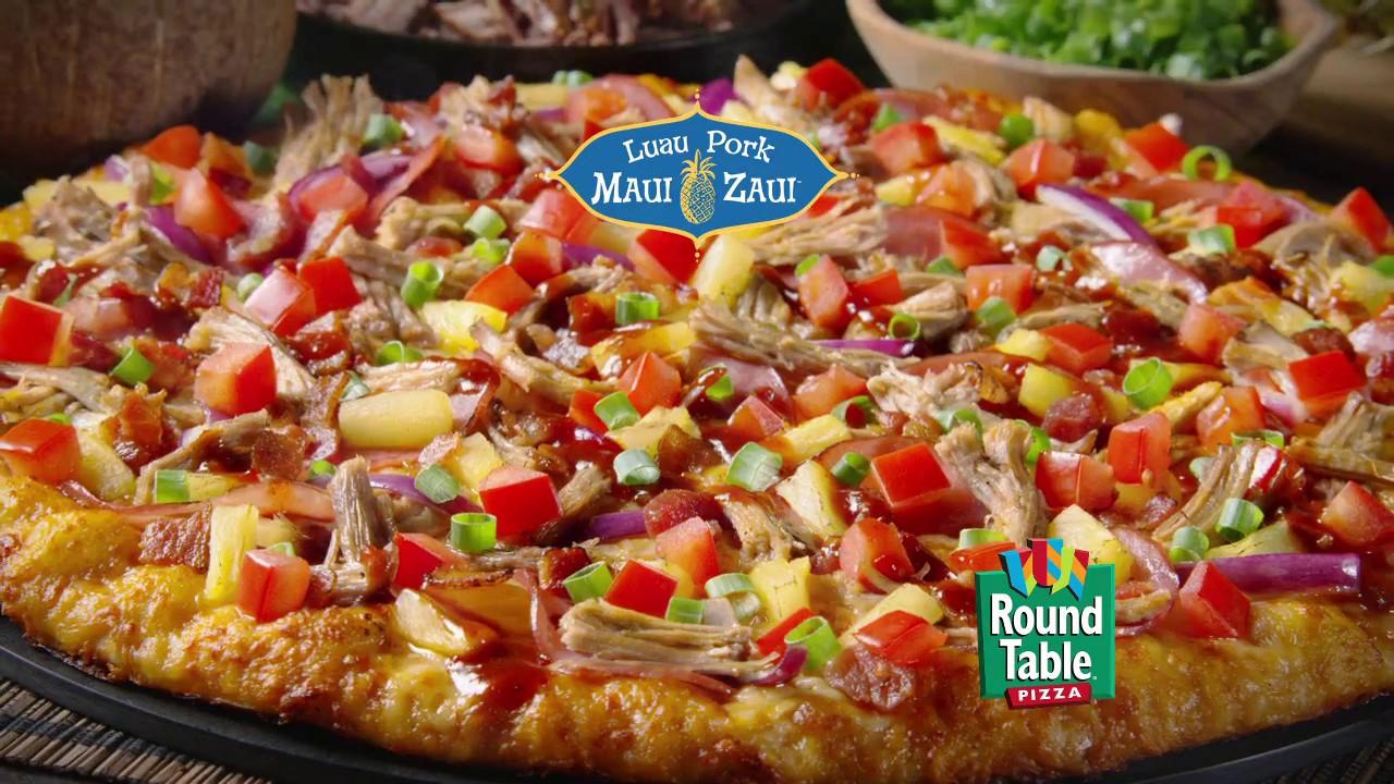 Pan Crust Round Table.Round Table Pizza Luau Pork Maui Zaui Pizza Magic