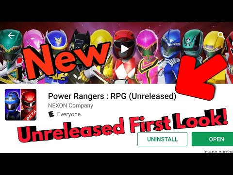 First Look At New Unreleased Power Rangers RPG Mobile Game! {beta}