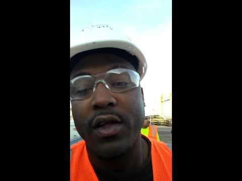 1st day of work precasting concrete