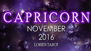 Capricorn November 2016 Psychic Tarot Reading