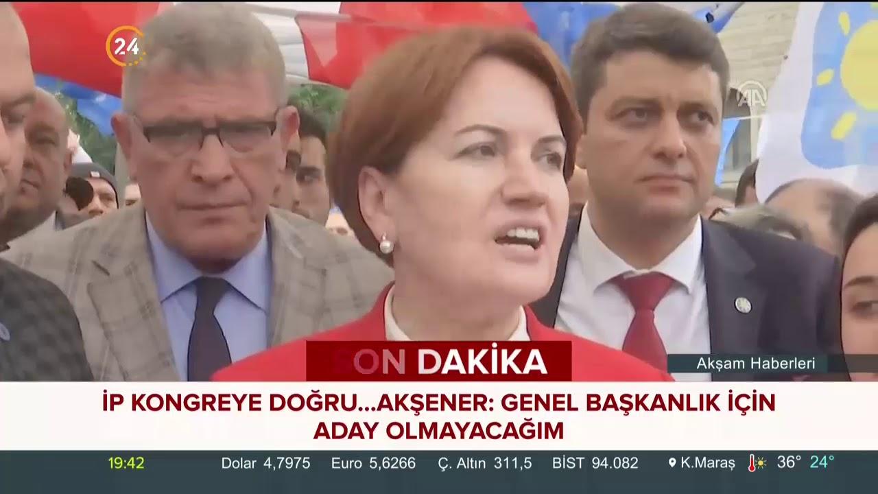 Meral Akşener: Genel başkanlık için aday olmayacağım
