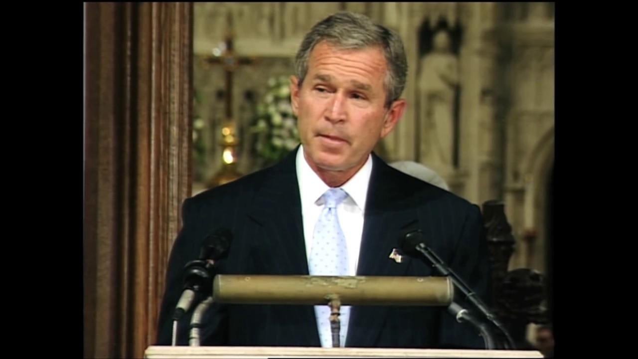 Emotional 911 Cathedral Speech - President Bush - YouTube