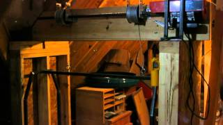 Home Made Garage Attic Lift Hoist Elevator Dumb Waiter Using Garage Door Components