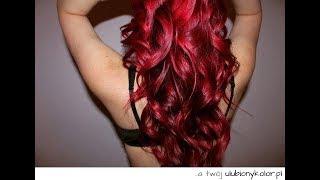Farbowanie ciemnych włosów- pianka Venita - czerwone włosy
