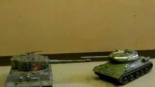 タイヨー1/16 RC 赤外線バトルタンク 2台セット ラジコン戦車 thumbnail