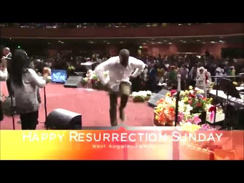 West Angeles COGIC Band Brother Chaz Shepherd Going in Praise Break On Resurrection Sunday 2017!