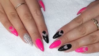 Negative Space Nails Semilac