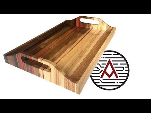 Sunset Serving Tray from Scrap Wood — Woodworking
