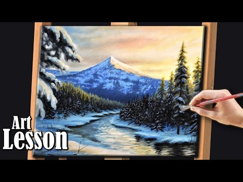 Painting a Winter Landscape at Dusk