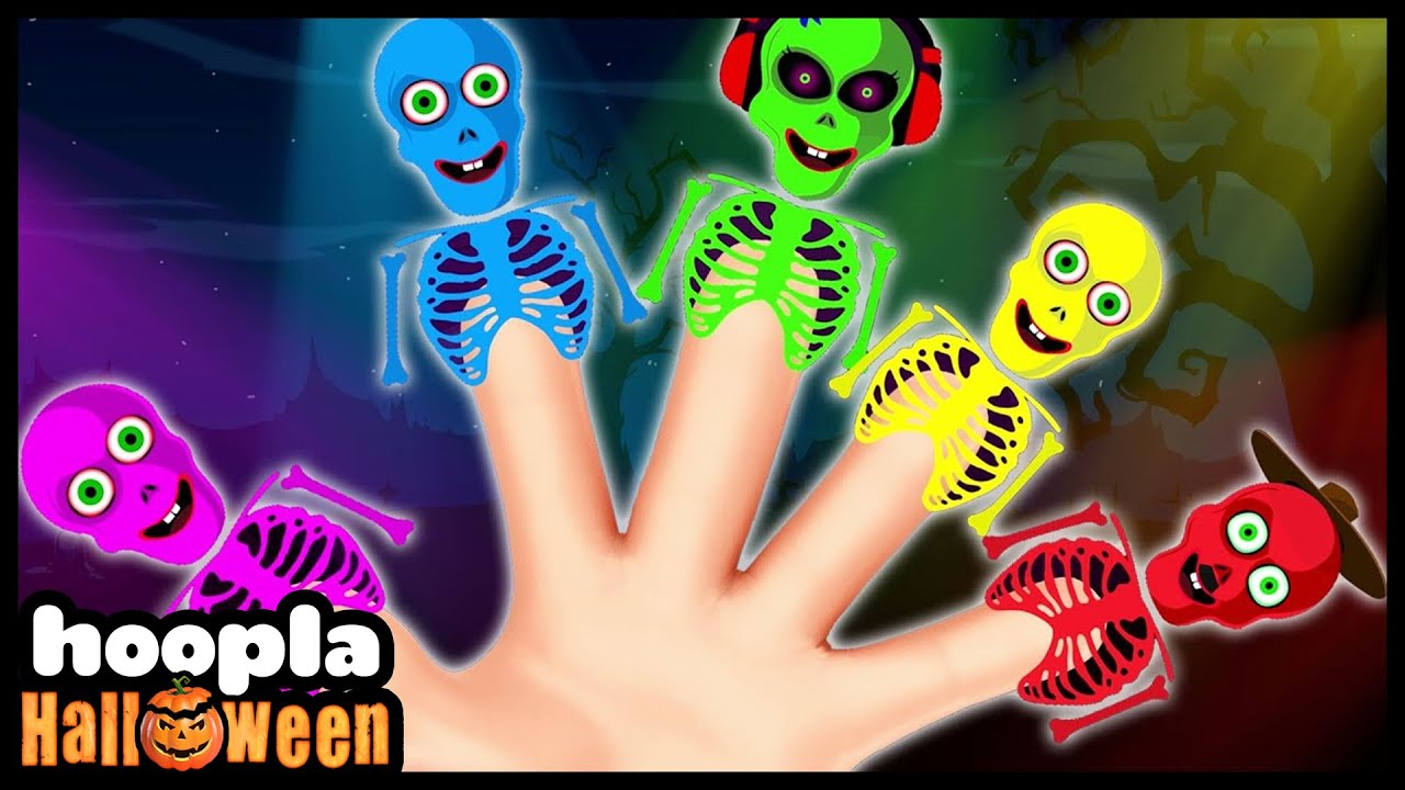 Skeleton Emotions Finger Family | Hoopla Halloween | Halloween Songs For Children