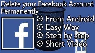 how to delete facebook account - permanently