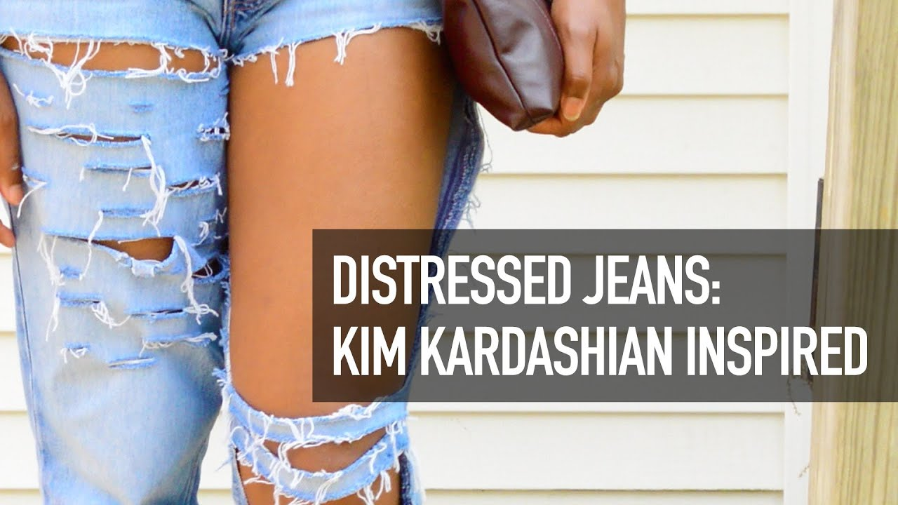 Distressed Jeans LOOKBOOK: Kim Kardashian Inspired || Chanel ...