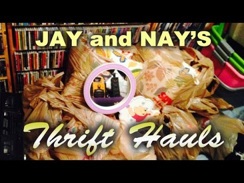 Jay & Nay Thrift Haul #23 - Jay's Trip To Cali to buy CDs and tiki mugs