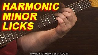 Harmonic Minor Scale Licks