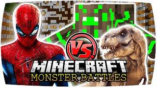 MINECRAFT: SPIDERMAN VS. RADIOACTIVE SPIDER & T. REX   Nunan » Monster Battles (Deutsch/HD)
