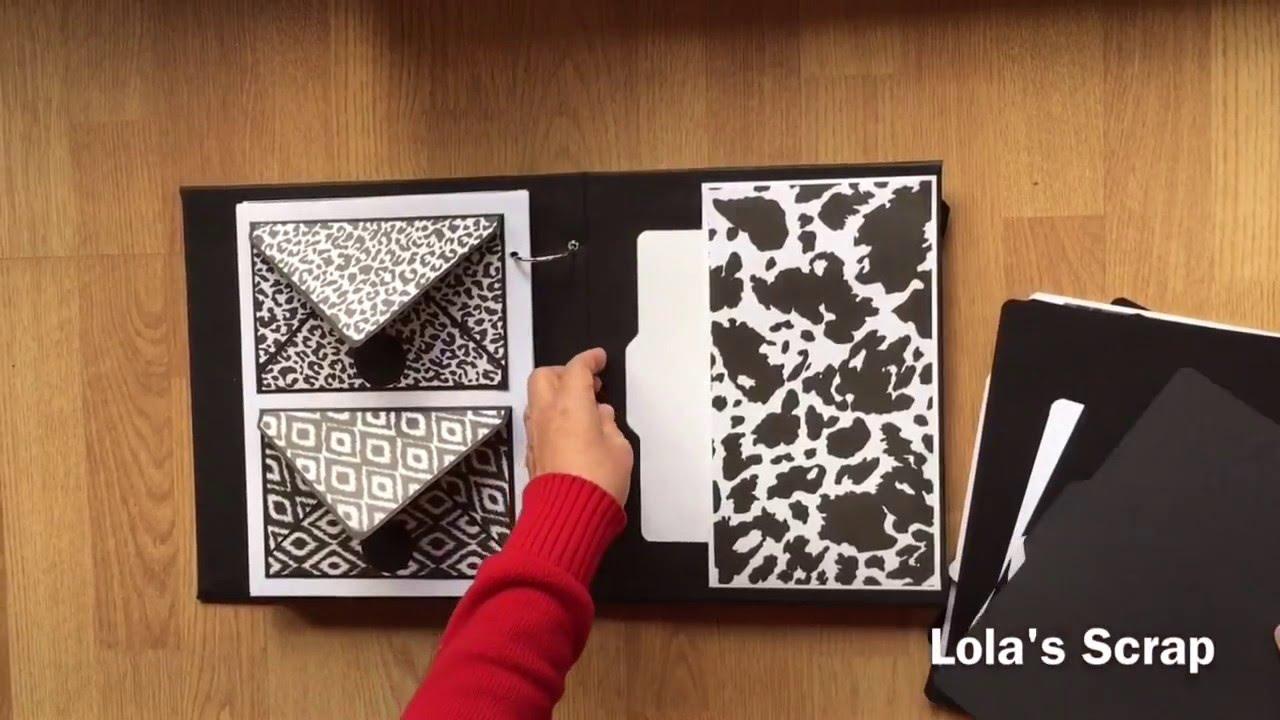 Diy mini album scrapbook for boyfriend 2014 youtube -  Lbum Black White Animal Print Diy Scrapbook