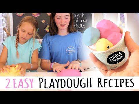 2 Easy Homemade Playdough Recipes | How To Make No Cook & Edible Playdough