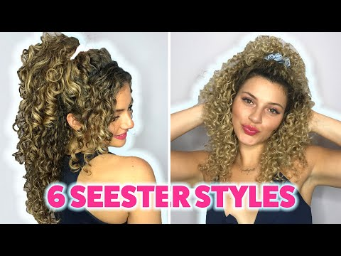 6 SEESTER SUMMER CURLY HAIRSTYLES USING SCRUNCHIES (FOR LONG AND SHORT HAIR) thumbnail