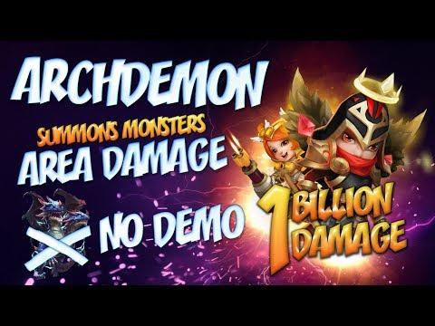 1 BILLION + DMG : Archdemon - AREA DAMAGE WITHOUT DEMO - CASTLE CLASH
