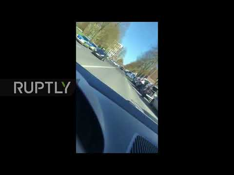 Germany: Massive police presence in Muenster after vehicle driven into crowd