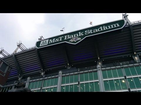 Game-day tour of M&T Bank Stadium (Baltimore Ravens - NFL) in Baltimore, Maryland