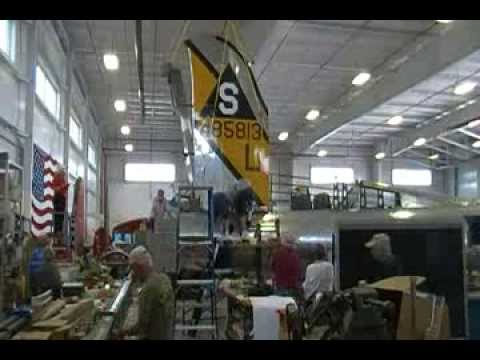 Setting in Place the B-17 Champaign Lady Vertical Stabilizer