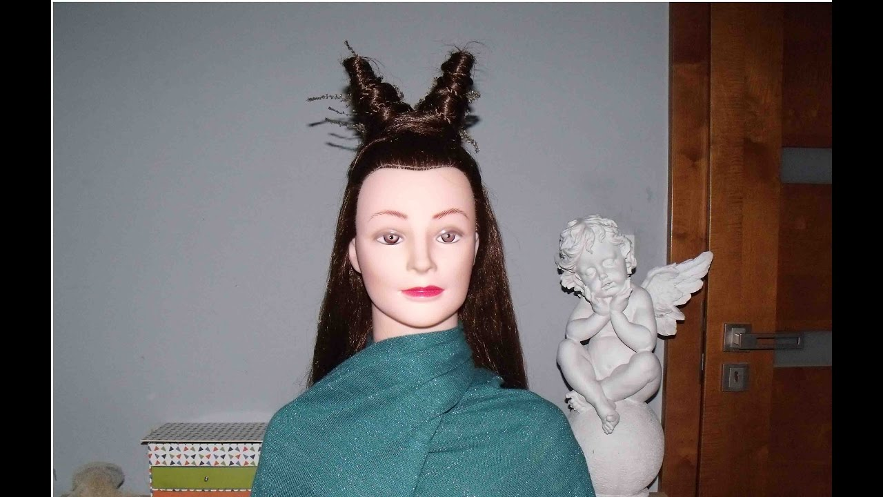 Rogi Fryzura Na Halloween Hairstyle Tutorial