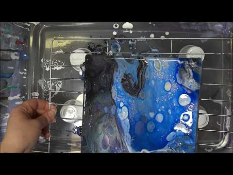 Tempera Paint Acrylic Pouring Experiment (100) This video is from 3 months ago