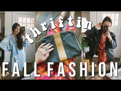I THRIFTED A FENDI BAG FOR $7: Thrifting Fall Fashion Haul || Sarah Belle thumbnail