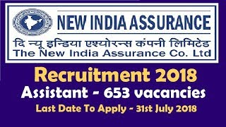 Everything About New India Assurance Recruitment of Assistant 2018