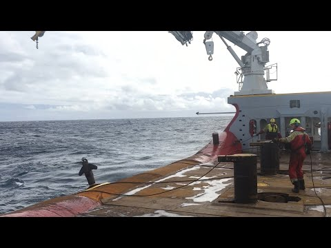 Pre-Lay. World's largest anchor handler in action! AHTS