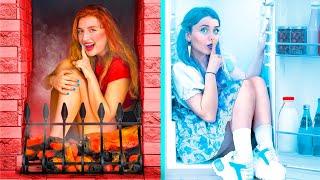 Desafío de: Escondidas Frías vs Calientes / Chica Ardiente vs Chica Helada