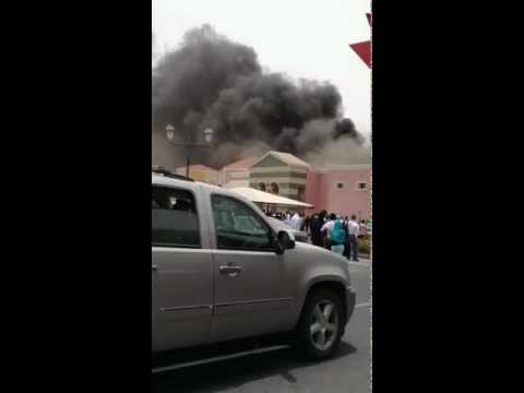 Villagio Mall is on fire..
