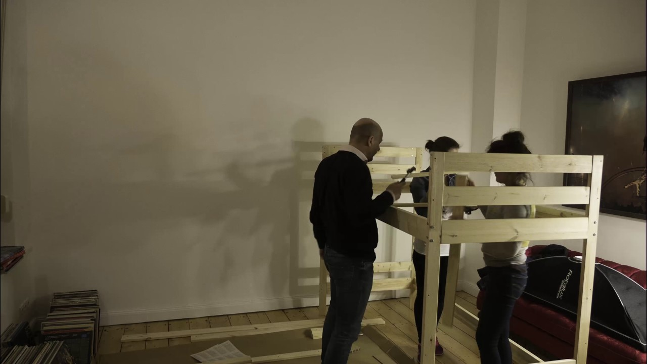 Ikea Etagenbett Mydal : Tbt wir bauen ein ikea hochbett youtube