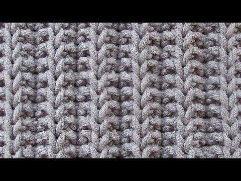 Двухсторонний структурный узор Вязание спицами Видеоурок 92