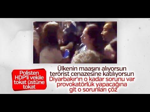Polisten HDP milletvekili Saliha Aydeniz'e ayar