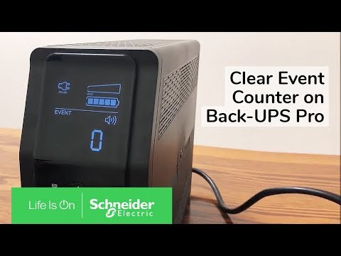 Clearing Event Counter of Back-UPS Pro RS/XS G & M Series | Schneider  Electric Support