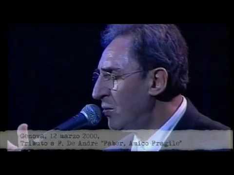 Battiato canta De Andrè e si commuove - Genova 12/03/2000