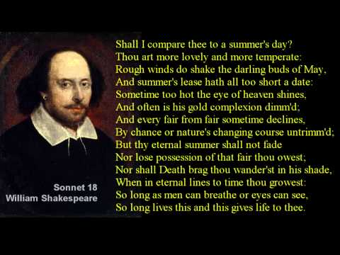 Shall I compare thee to a summer's day?  # Shakespeare Sonne