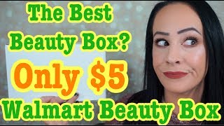 Is this the best beauty box? ONLY $5?! Walmart Beauty Box Unboxing & Review / Fall 2019