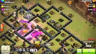 Clash of Clans : Dragons with balloons 3 stars th9 in clan war