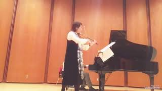 Megumi Matsumoto Violin 🎻 Violin Sonata No.1 by Gabriel Faure 4th movement 💐 December.9 2018 thumbnail